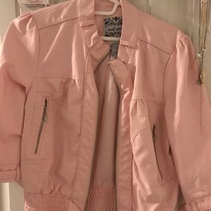 Wet seal pink faux leather